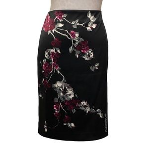WHBM Floral Pencil Skirt